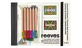 Postkartenmalbuch mit Stiften, Reeves Colourful Cosmos