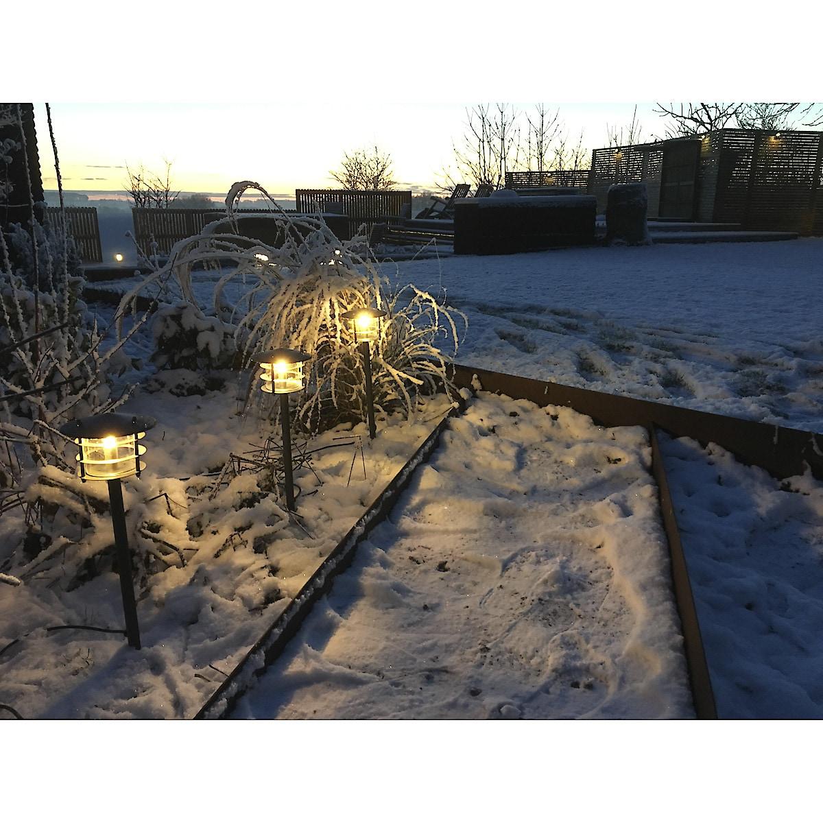 Trädgårdsbelysning Poppy LED 3-pack
