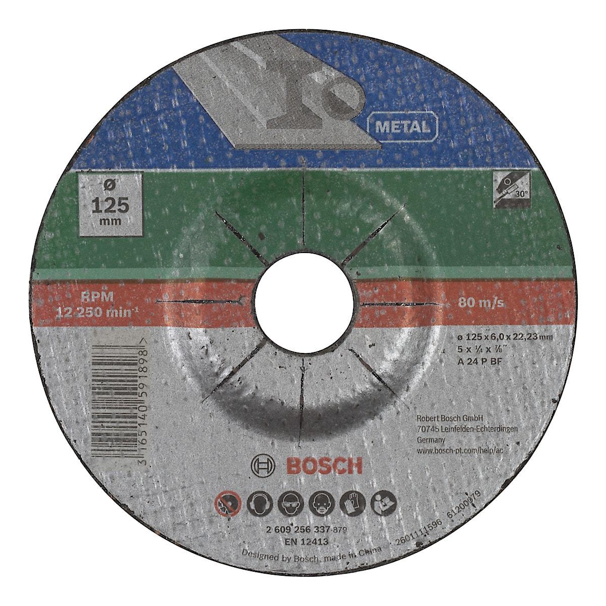 Slipskiva för metall 125 mm, Bosch