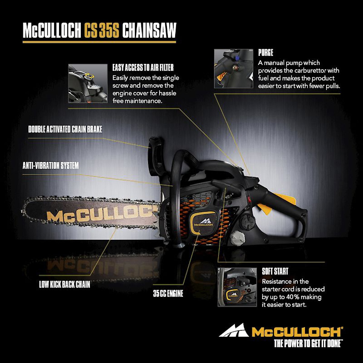 Moottorisaha McCulloch CS 35S