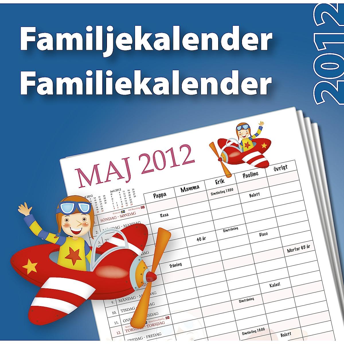 Familjekalender 2012