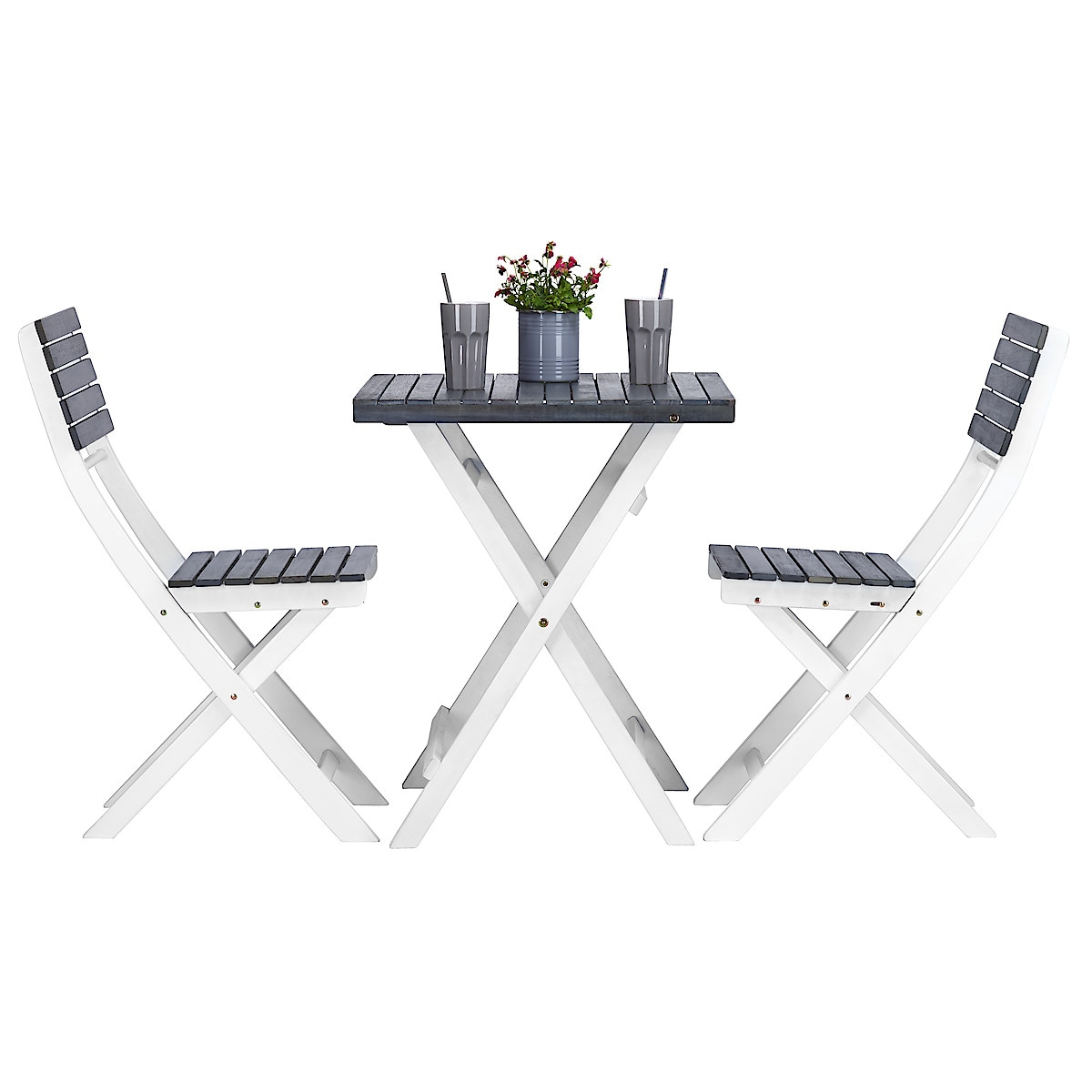 Outdoor Furniture with Table and Two Chairs