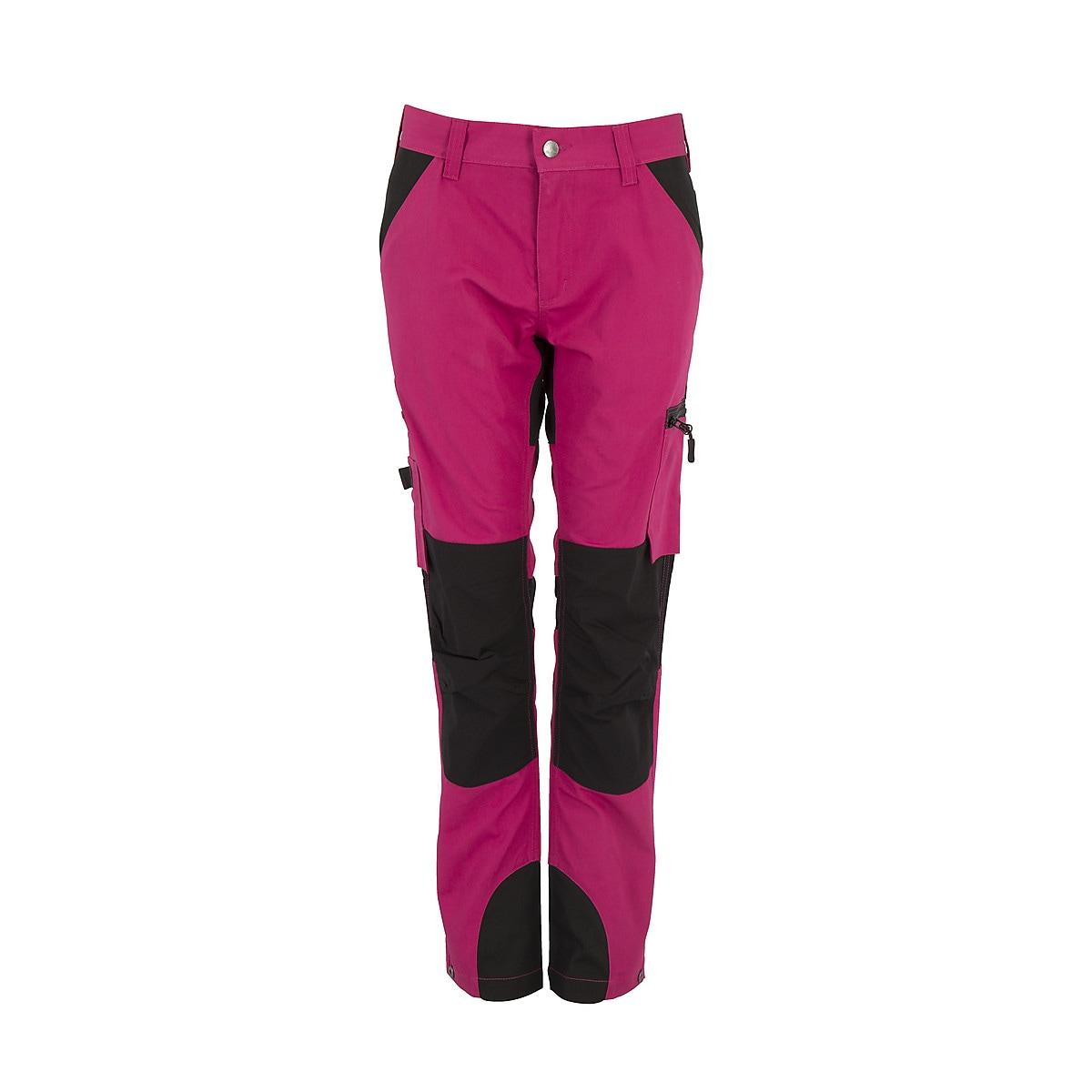 Arbetsbyxor stretch dam, rosa