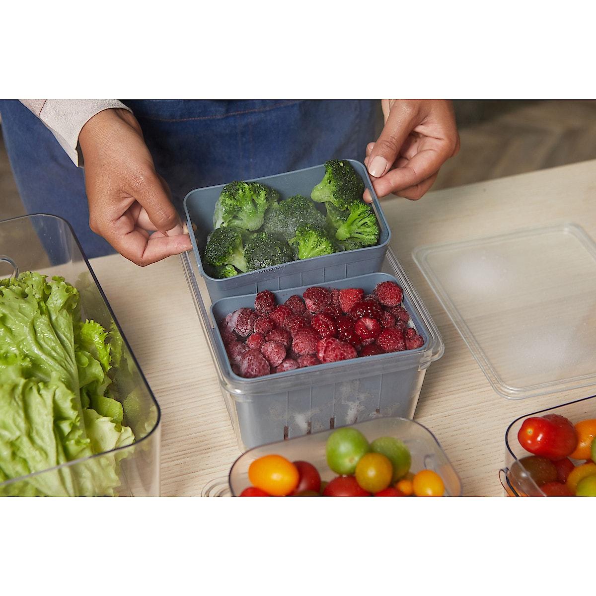 Kylskåpsförvaring korgar 2-pack, Coline