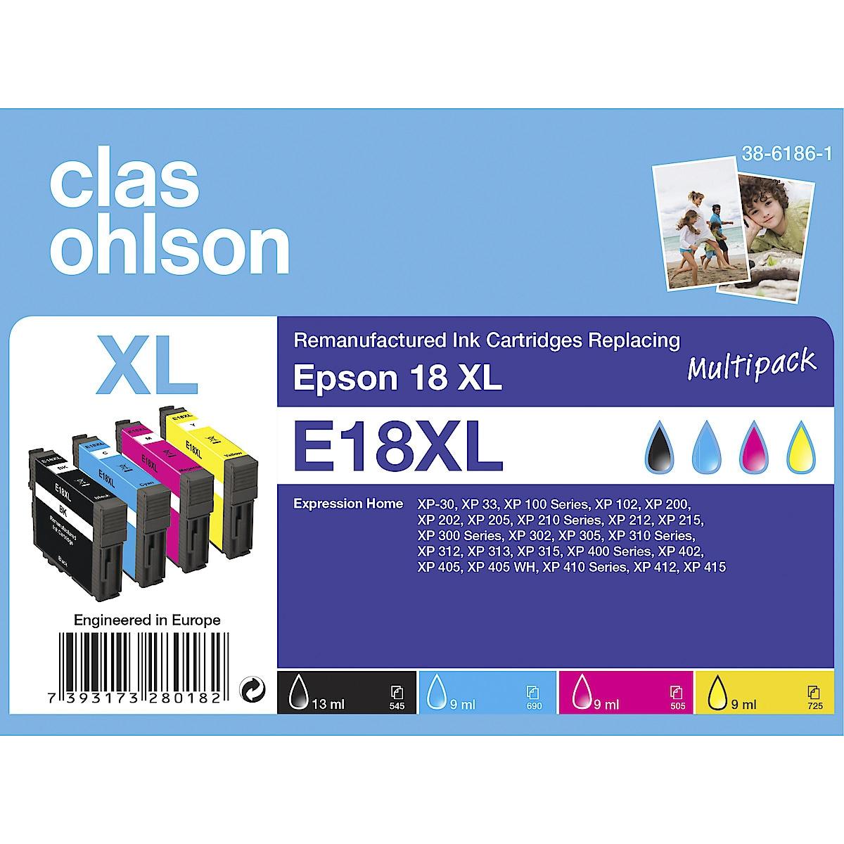 Clas Ohlson Epson 18 Ink Cartridge