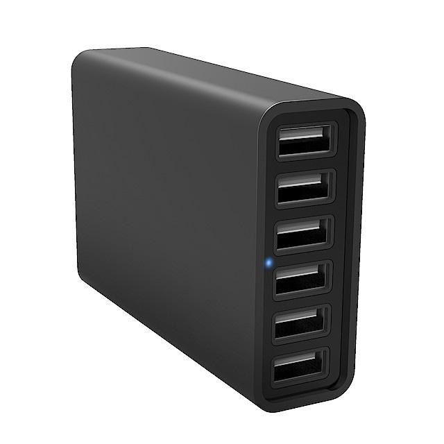 USB laddstation med 6 portar   Clas Ohlson