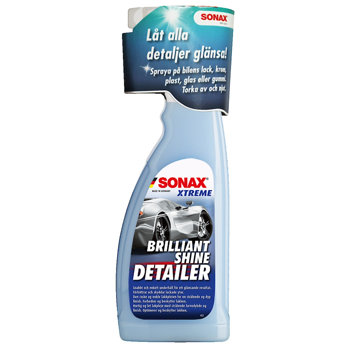Snabbvax Xtreme Brilliant Shine Detailer Sonax 750 ml