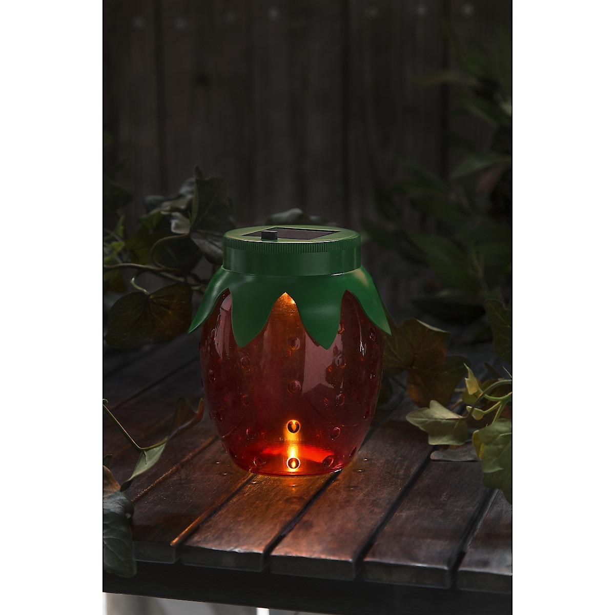 Aurinkokennolyhty Mansikka