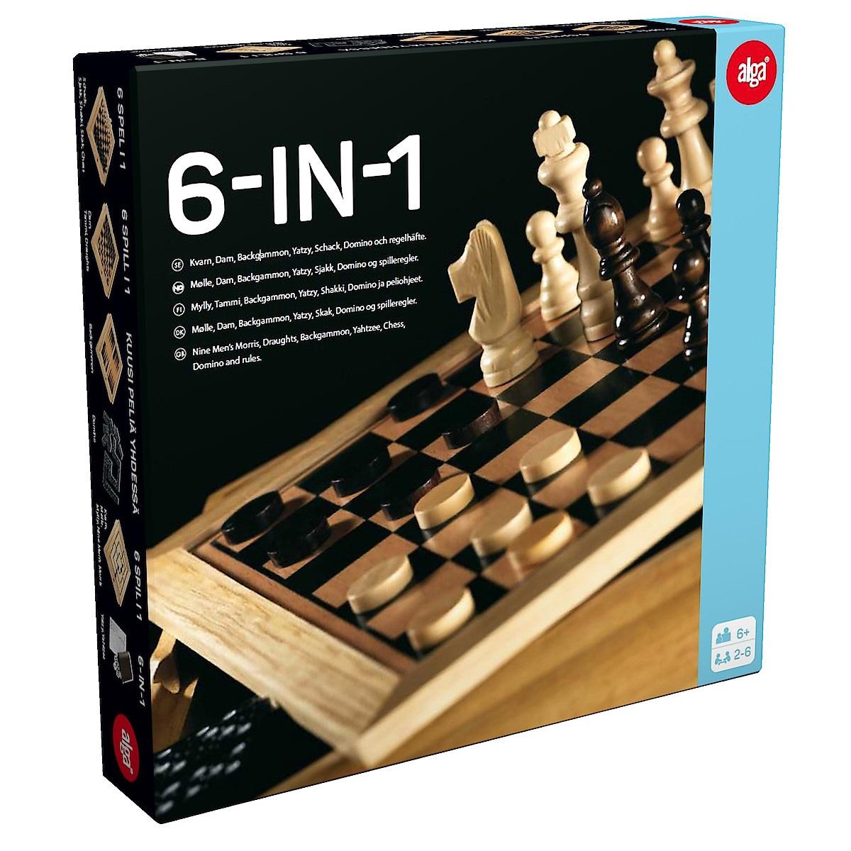 Spelbox Alga 6 spel i 1