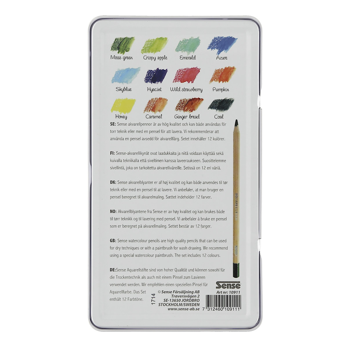 Aquarellstifte Sense 12er-Pack