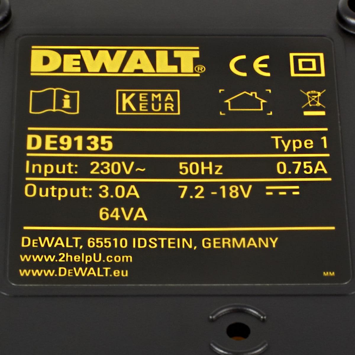 Lader Dewalt DE9135 7,2-18V