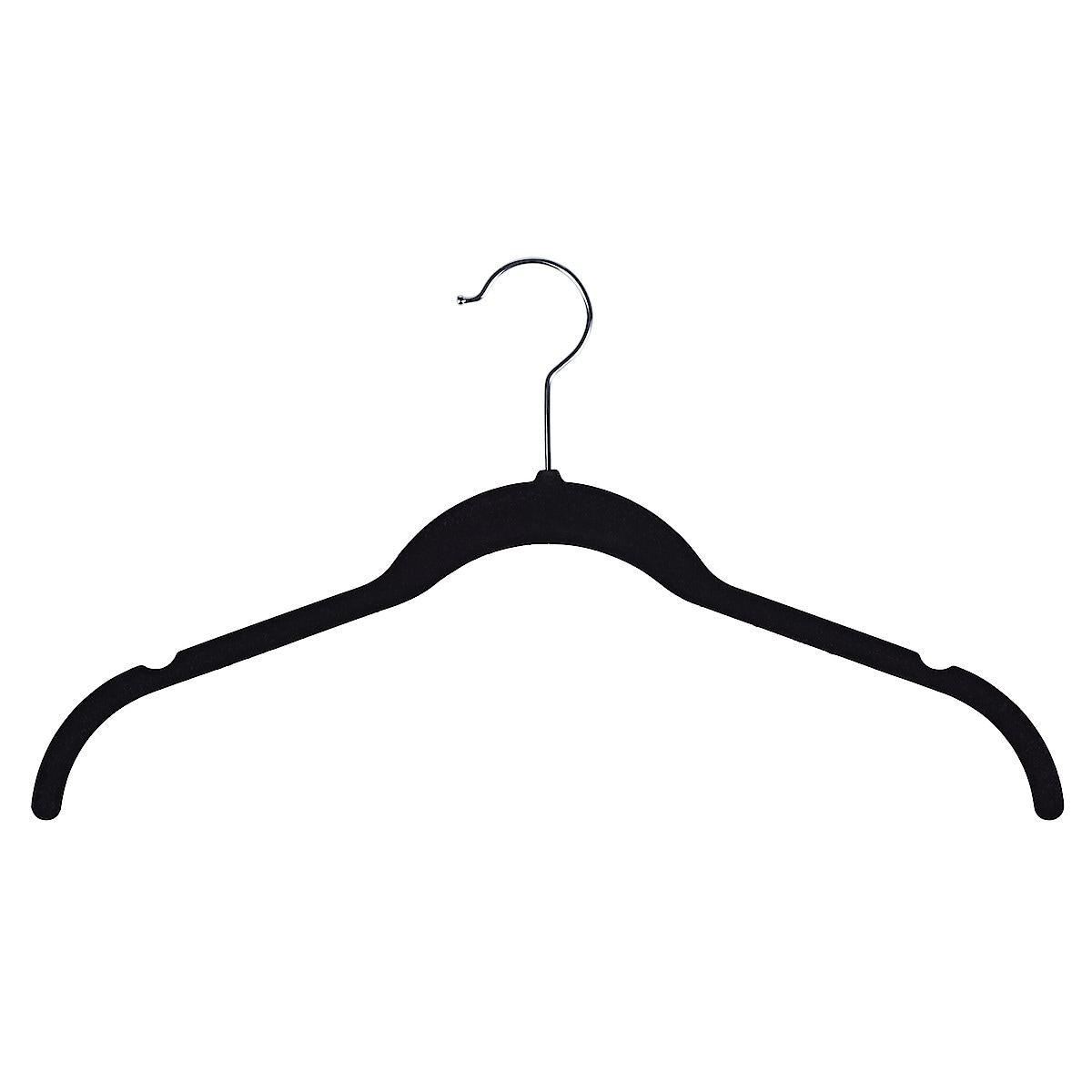 Pack of 6 Flocked Coat Hangers