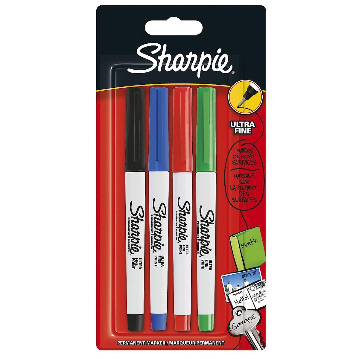 Tuschpennor Sharpie Ultra Fine, 4-pack