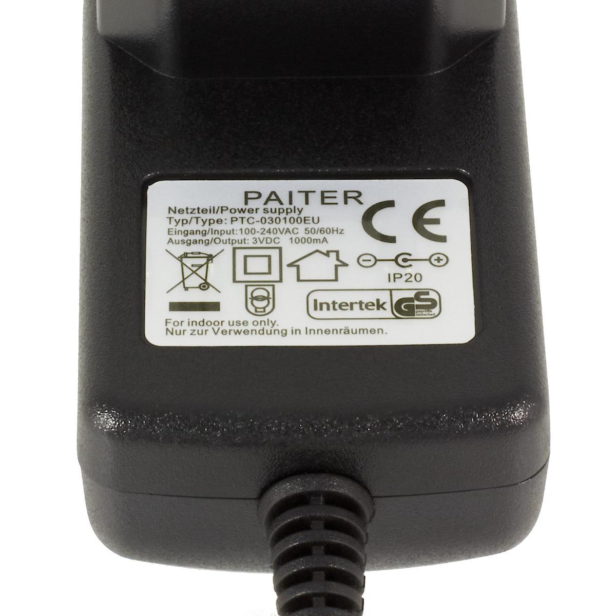 Laddare PTC-030100EU 3V Coline