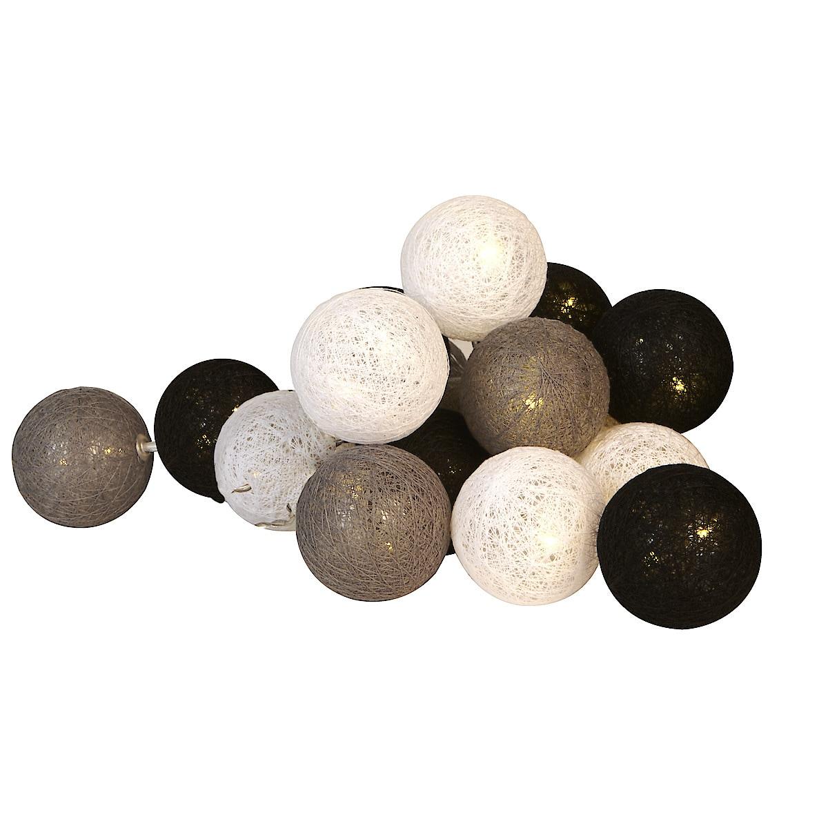 Ljusslinga med bollar