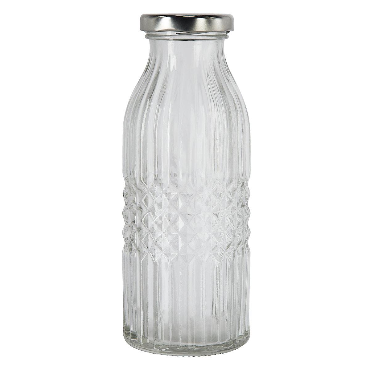 Glasflaska med skruvkork 4-pack