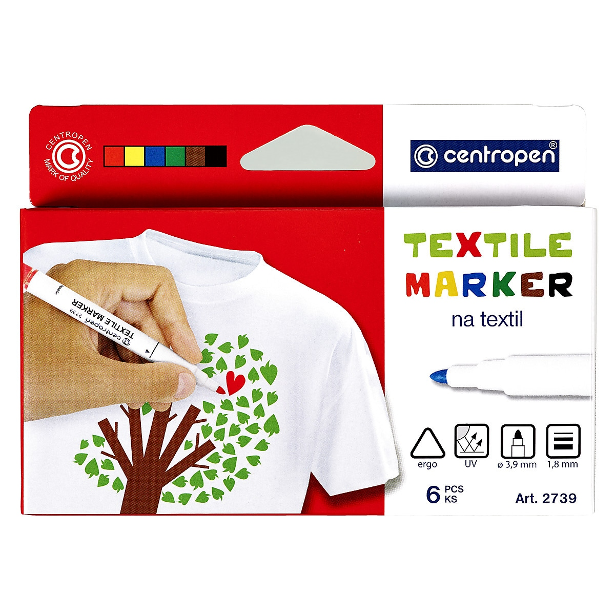 Fabric Markers 6-pack