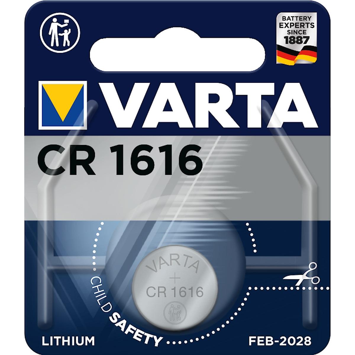 Litiumbatteri CR1616 VARTA