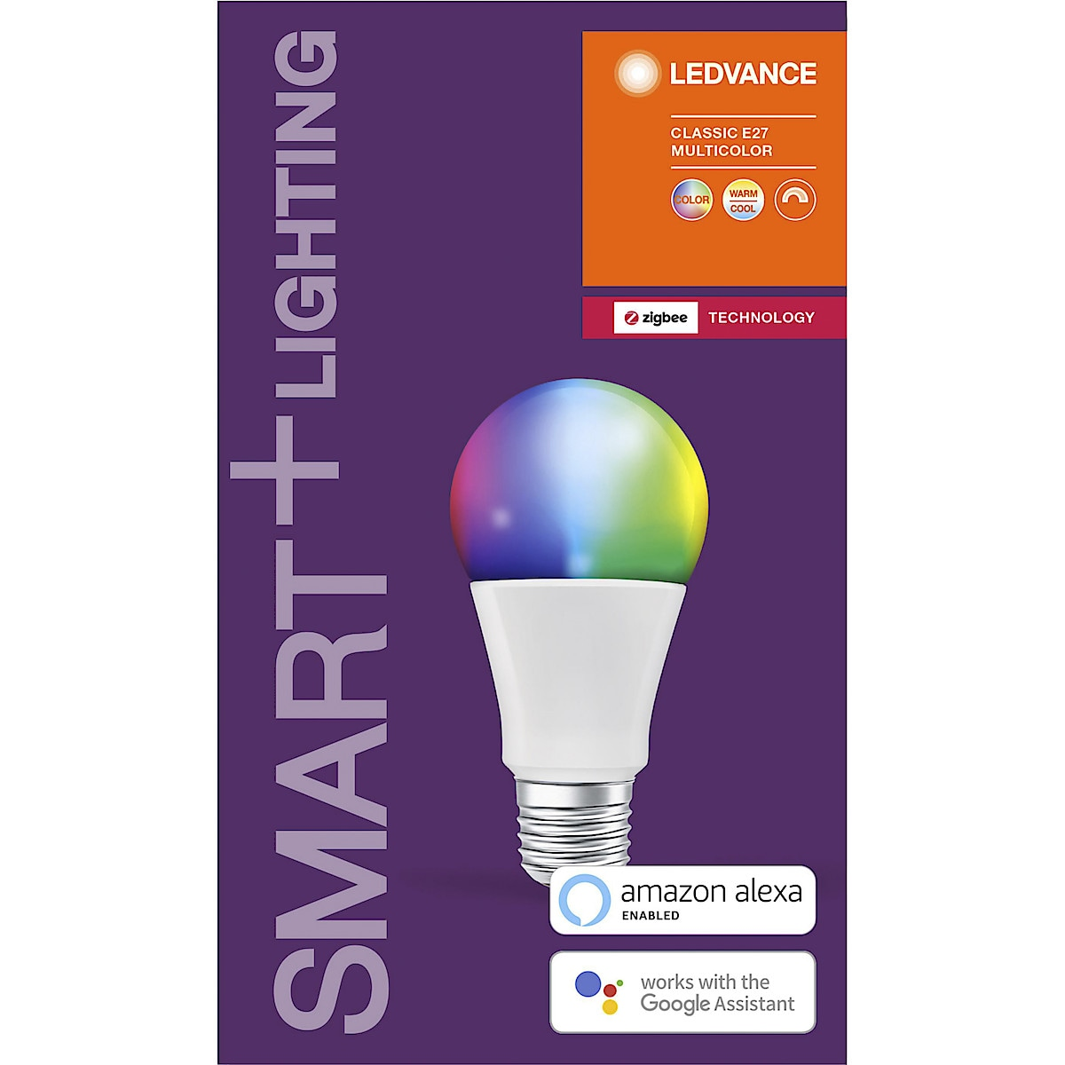 Ledvance Smart+ Normalpære RGBW, 800 lm, 10 W