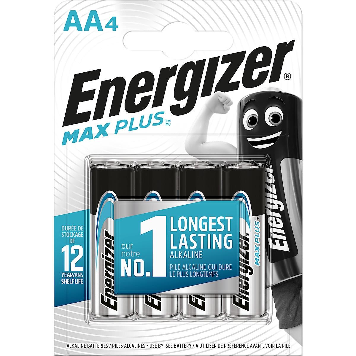 Energizer Max Plus AA/LR6 alkaliske batterier