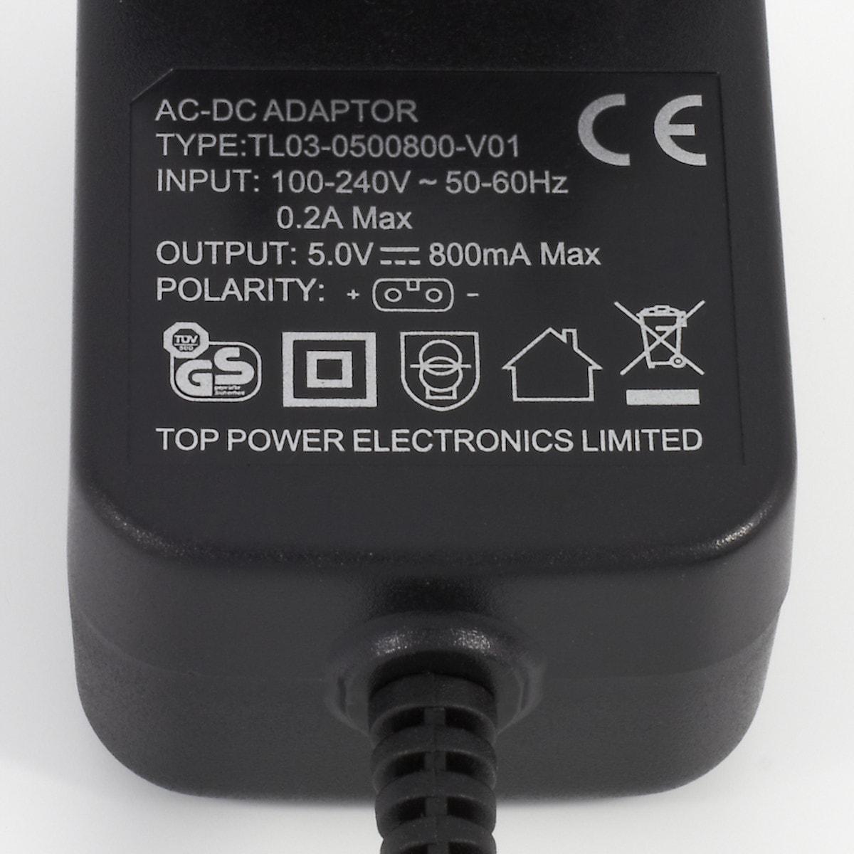 Strømadapter 5 V/800 mAh Coline