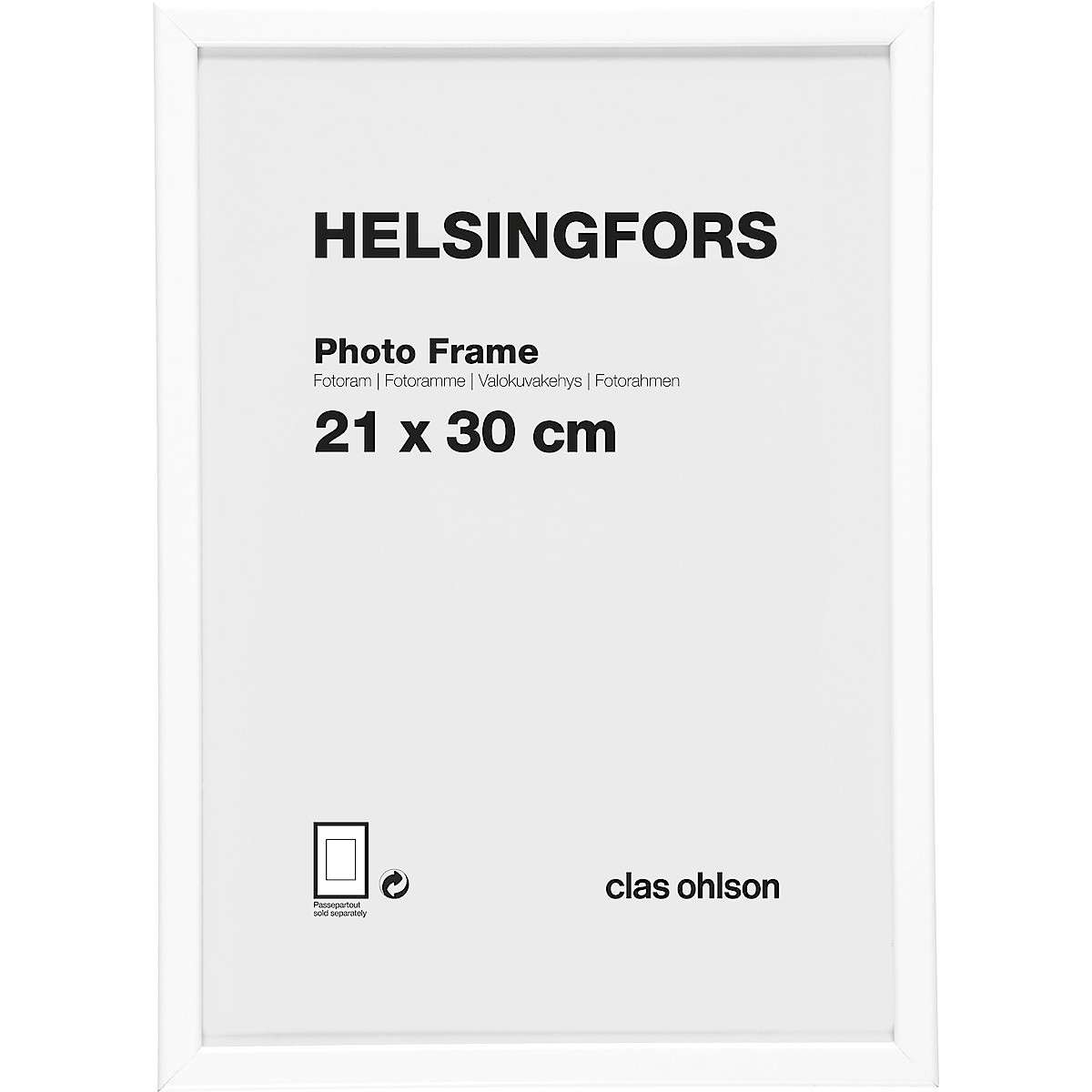 Pack of 2 Helsinki Photo Frames – White