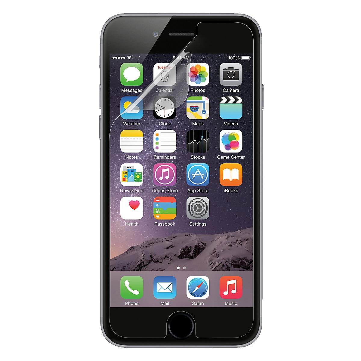 Belkin Screen Protectors for iPhone 6/6S, 3-pack