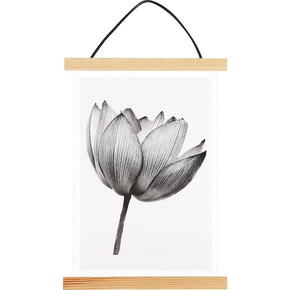 Affischlist i furu med akrylglas
