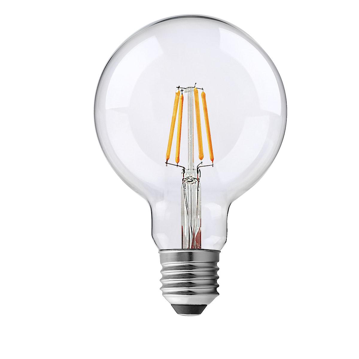 Dimbar dekorationslampa LED Glob Klar E27 Northlight