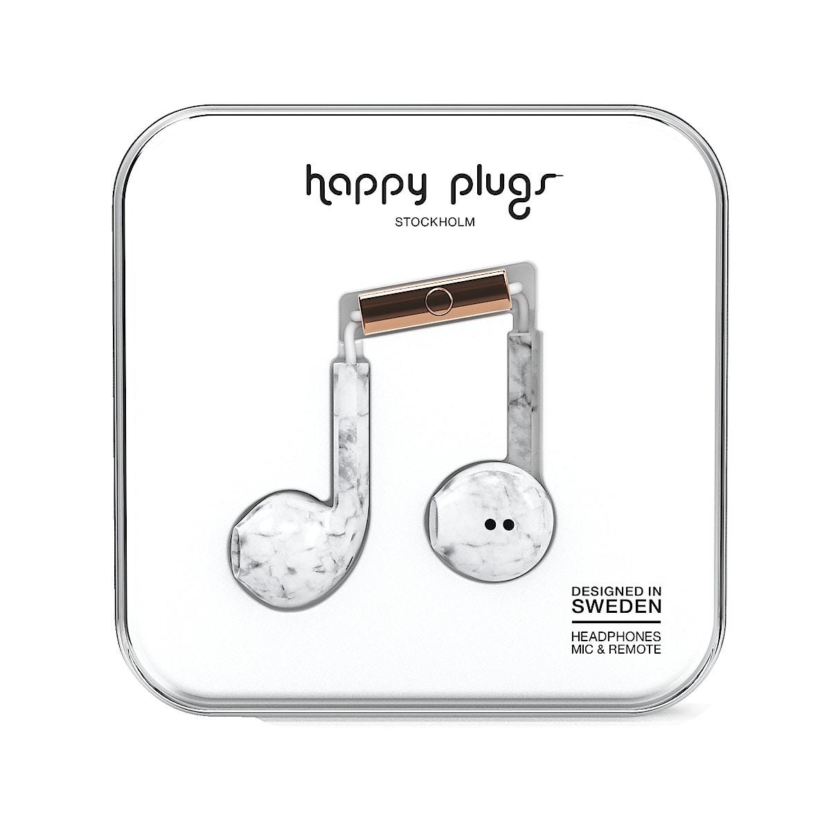 Hörlurar med mikrofon Happy Plugs Earbud Plus Unik Edt