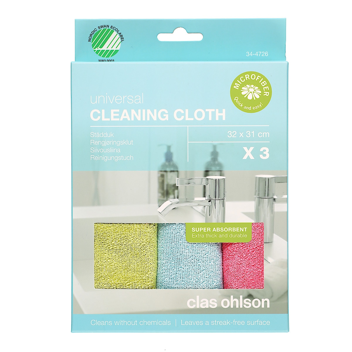Städduk Smart Microfiber 3-pack