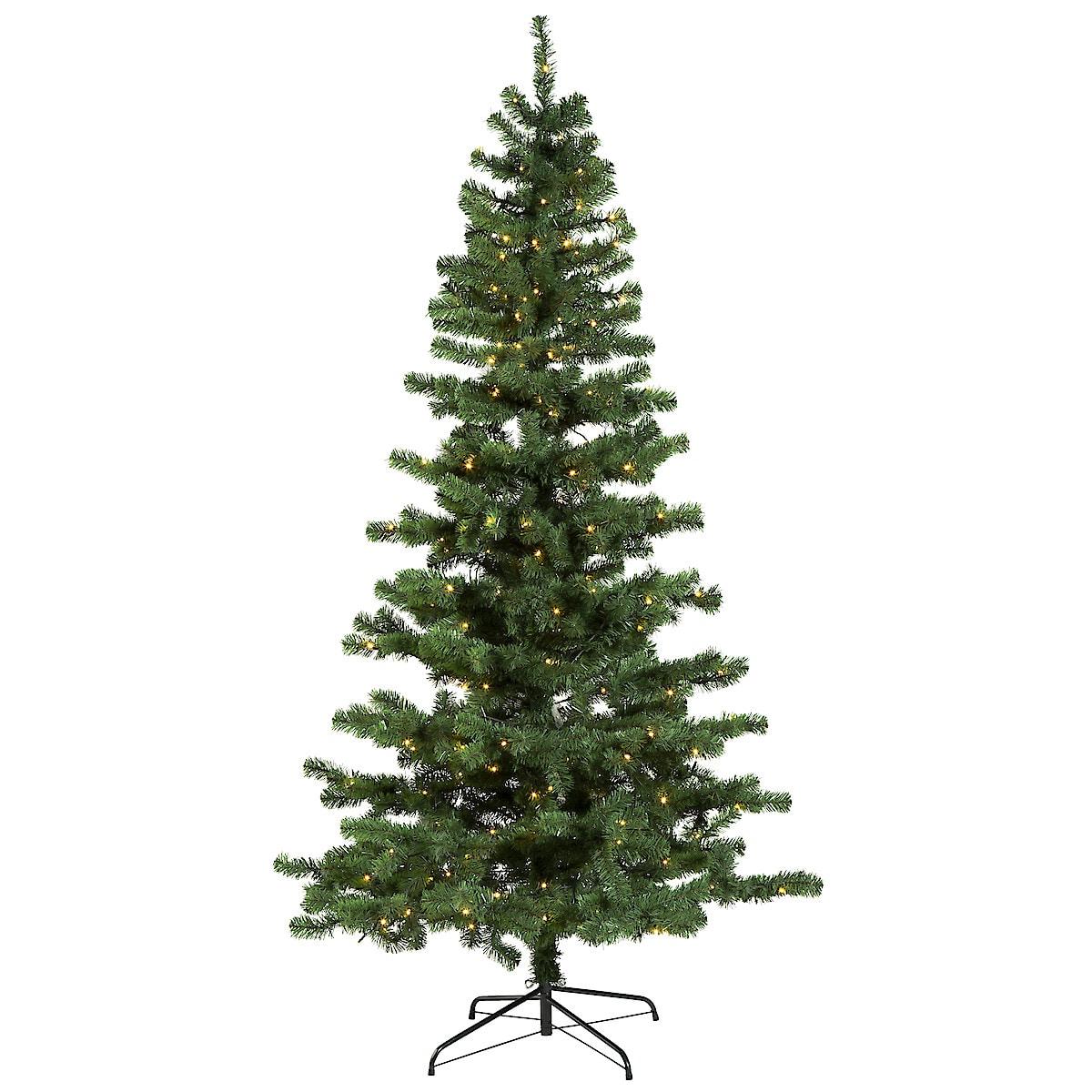 Julgran med inbyggd belysning 210 cm