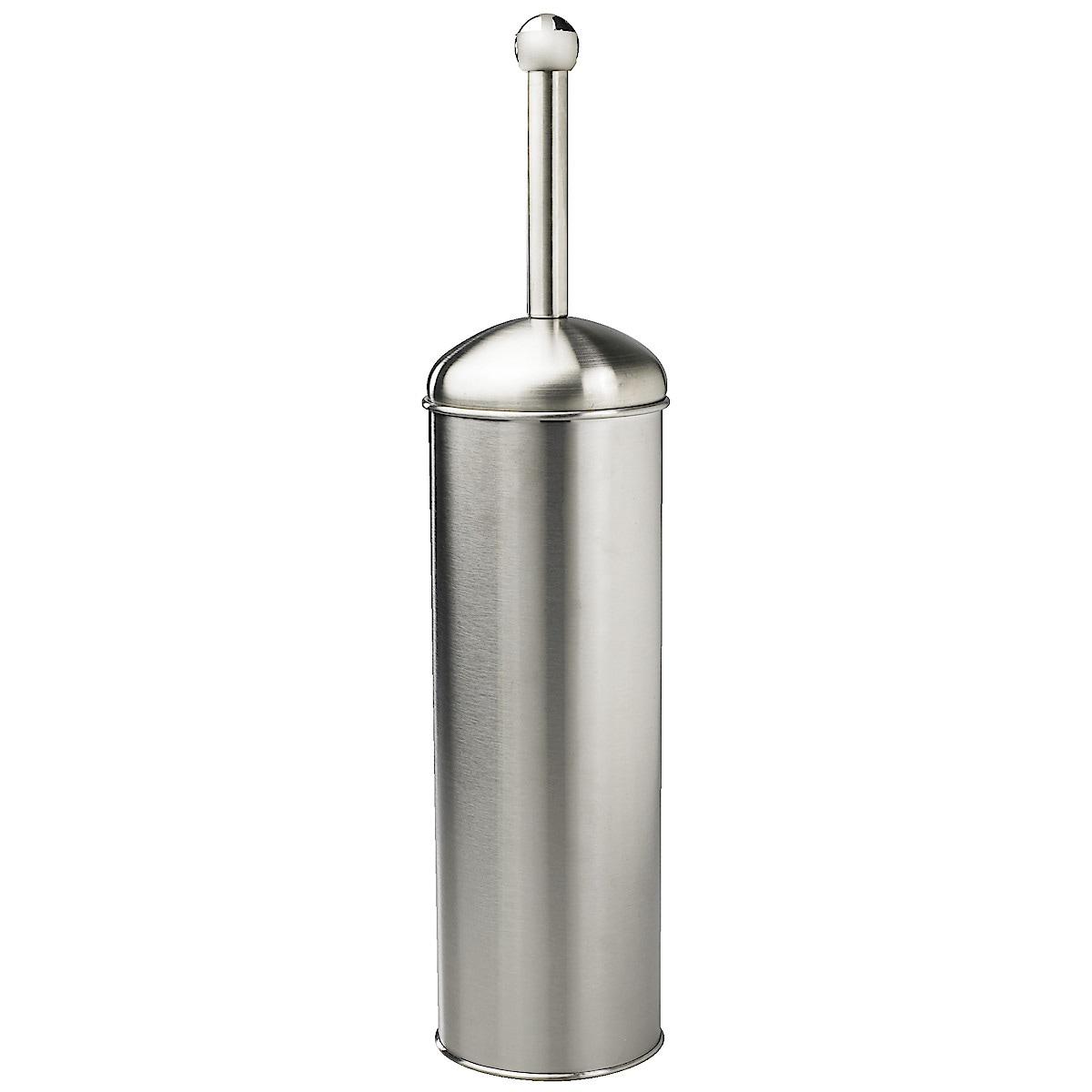 Toalettbørste med beholder, rustfritt stål