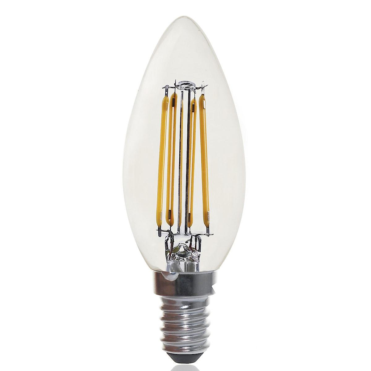 Clas Ohlson Premium Classic dimbar LED-pære E14 mignon