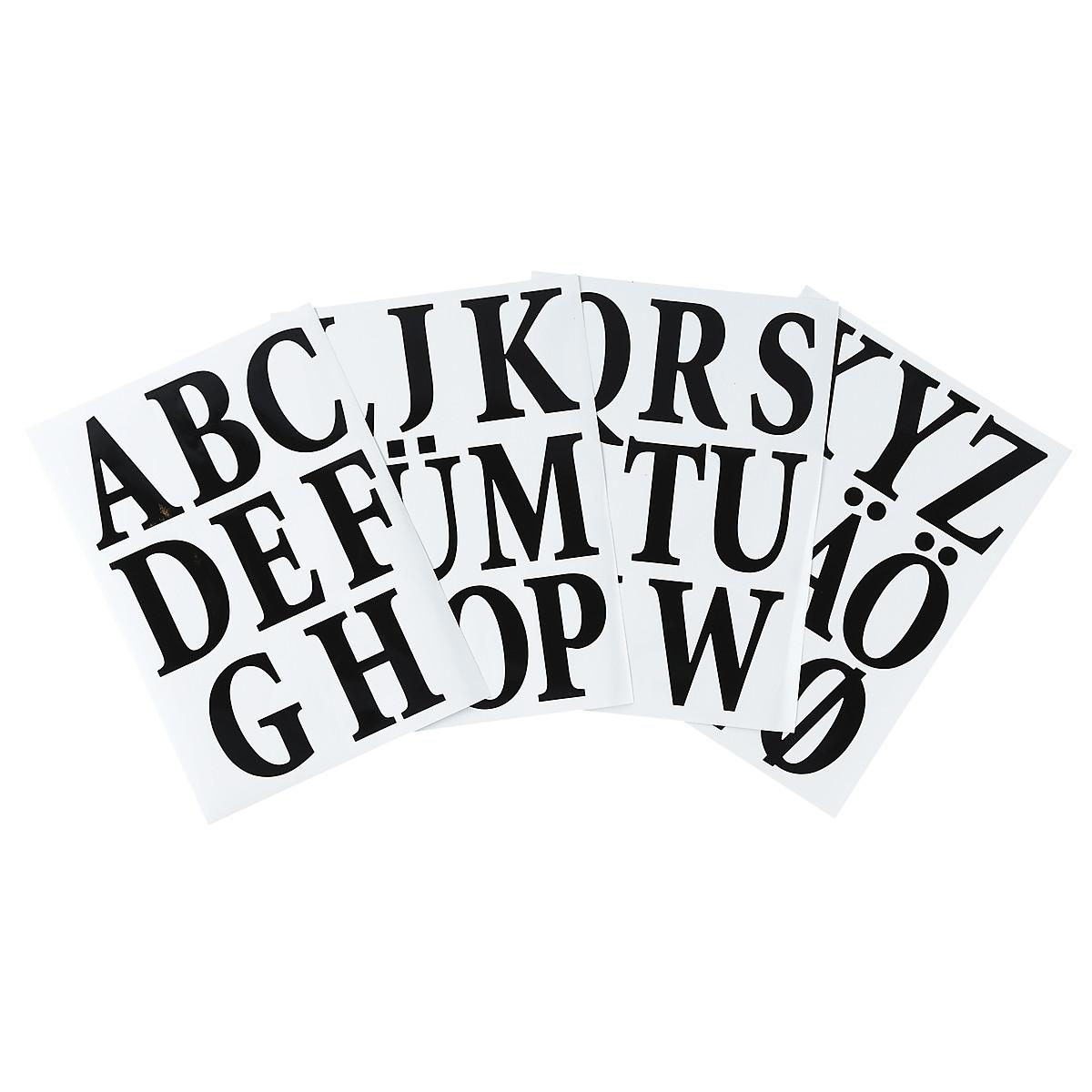 Självhäftande bokstäver