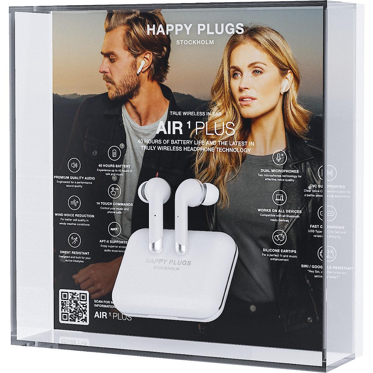Happy Plugs Air 1 Plus in-ear, trådlösa hörlurar