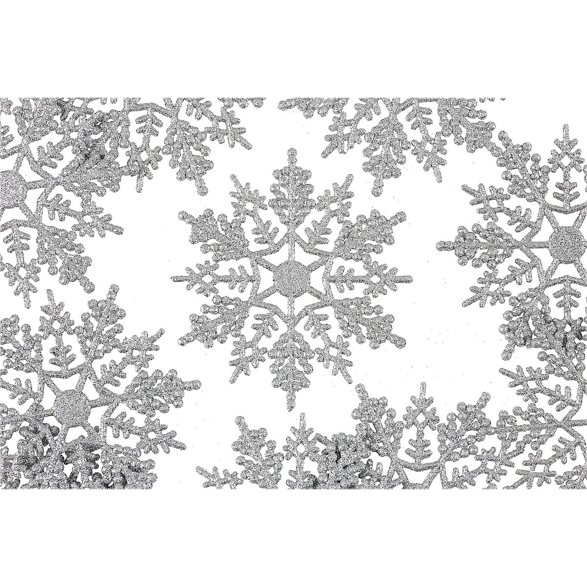 Snowflake Decorations 10-pack