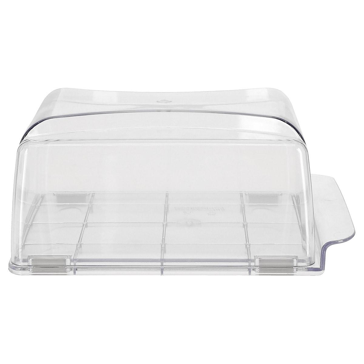 Osteklokke glassklar plast