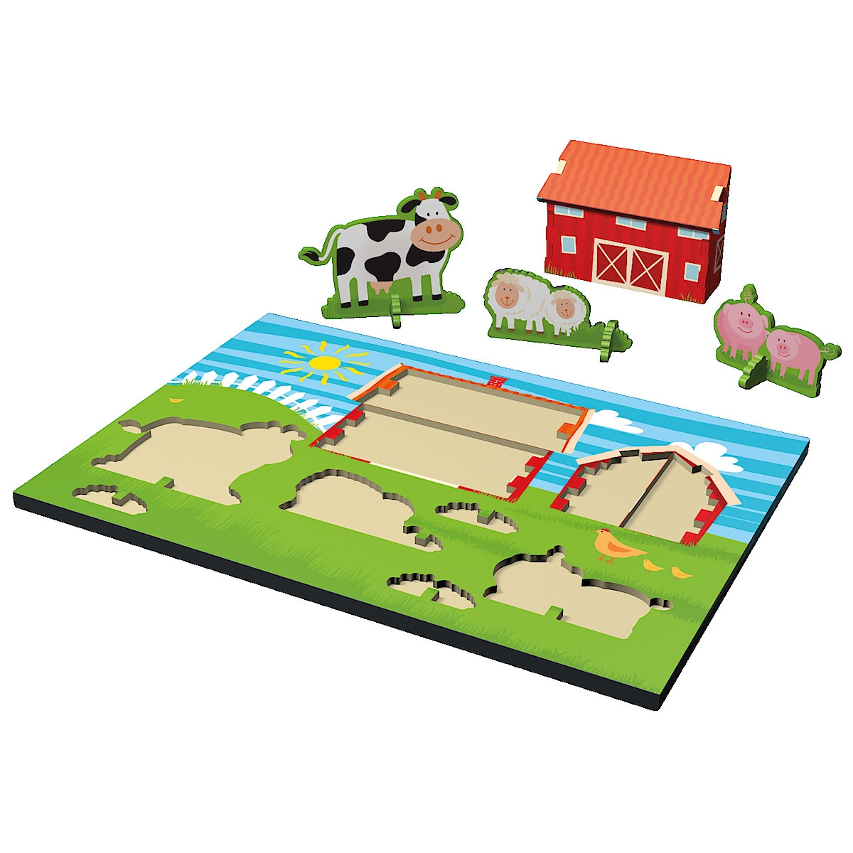 Farmhouse Pull Out Puzzle