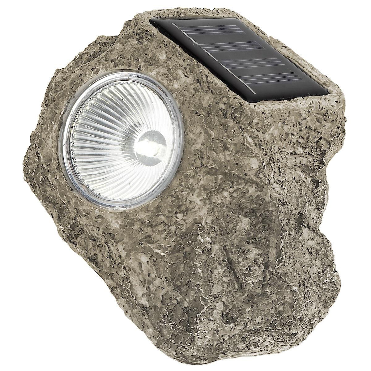 Stenar med solcellsbelysning