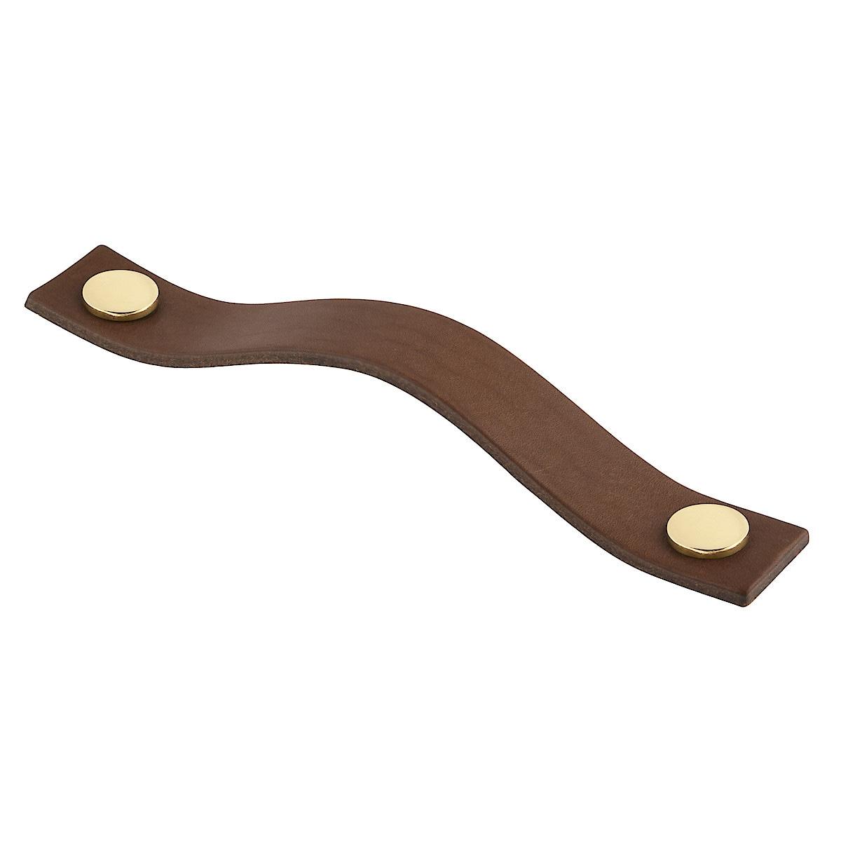 Läderhandtag Levanto brunt, 158 mm