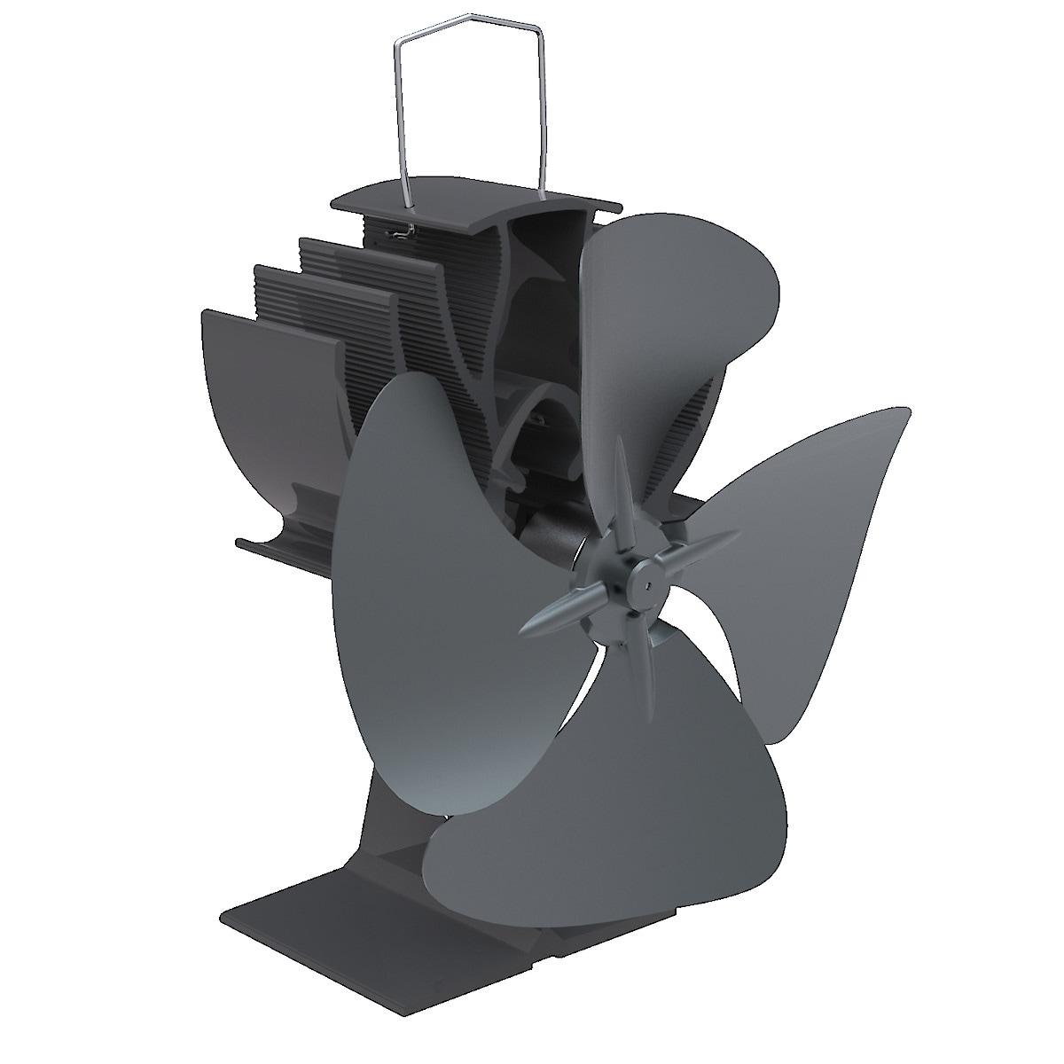 4-Blade Heat Powered Stove Fan