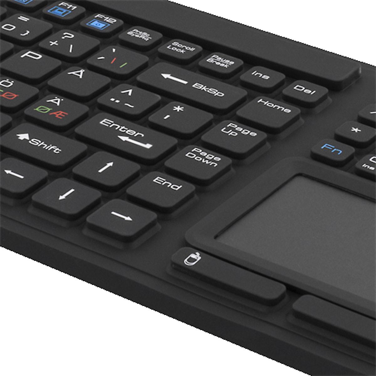 Tangentbord med touchplatta Deltaco TB-502