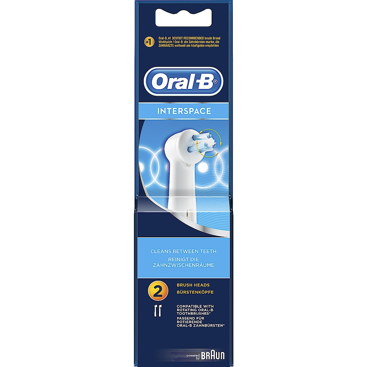 Borsthuvud refill Oral-B Interspace 2-pack
