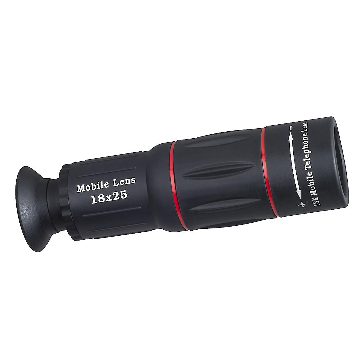 Teleobjektiv 18x zoom och tripod till mobiltelefon