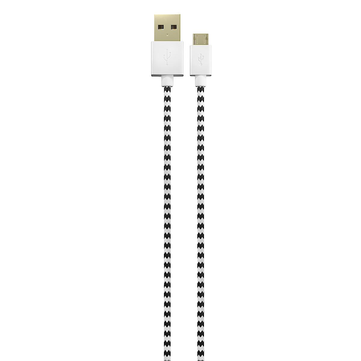 Extra lång laddkabel Micro-USB Exibel