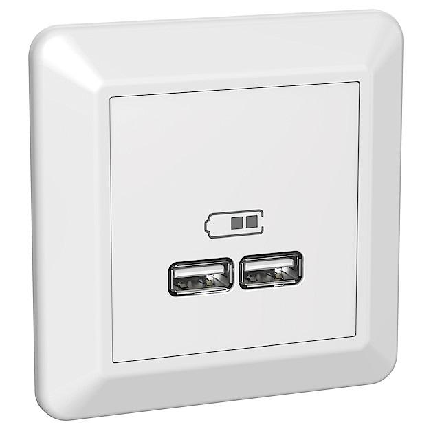 USB ladduttag Elko RS   Clas Ohlson