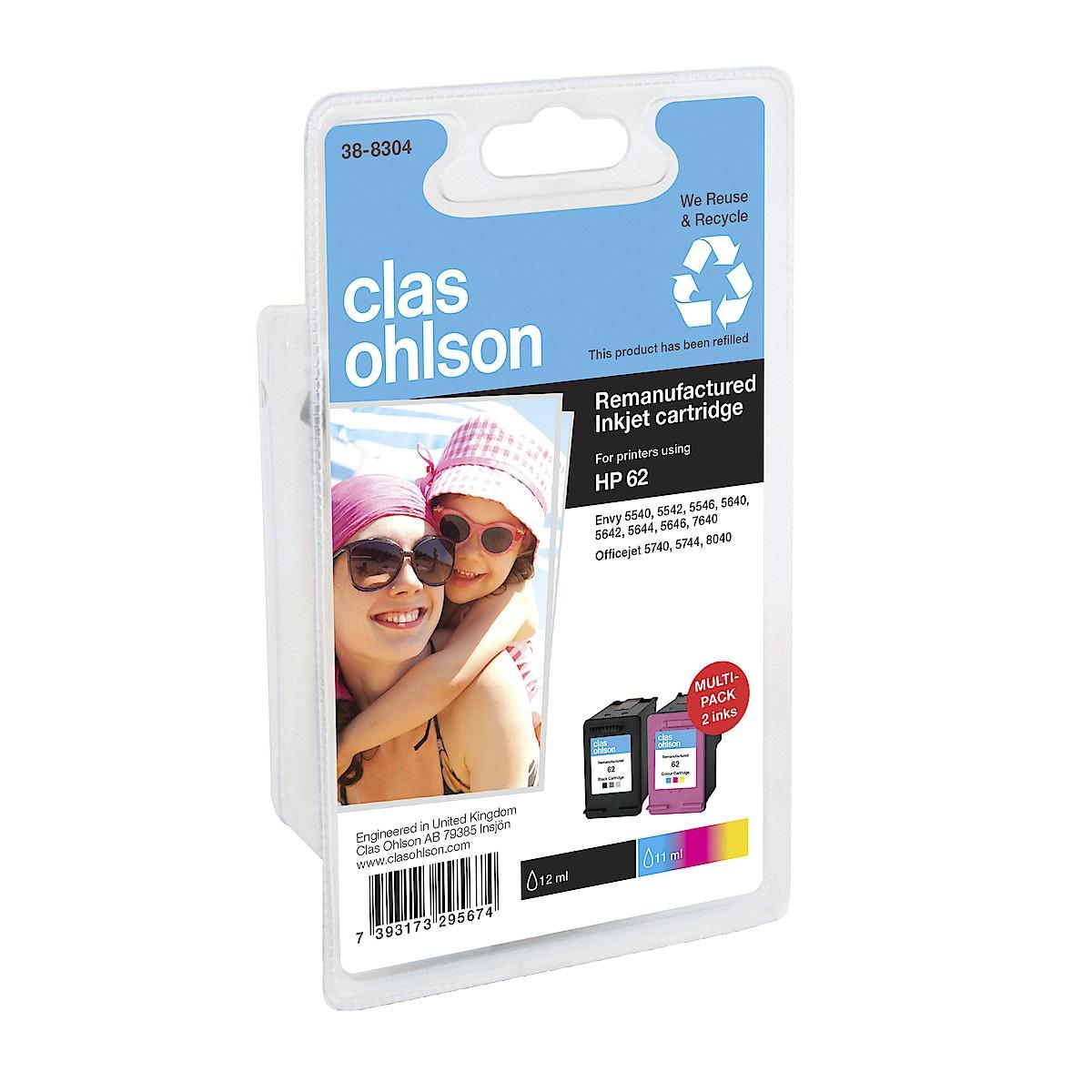 Bläckpatron HP 62 Clas Ohlson
