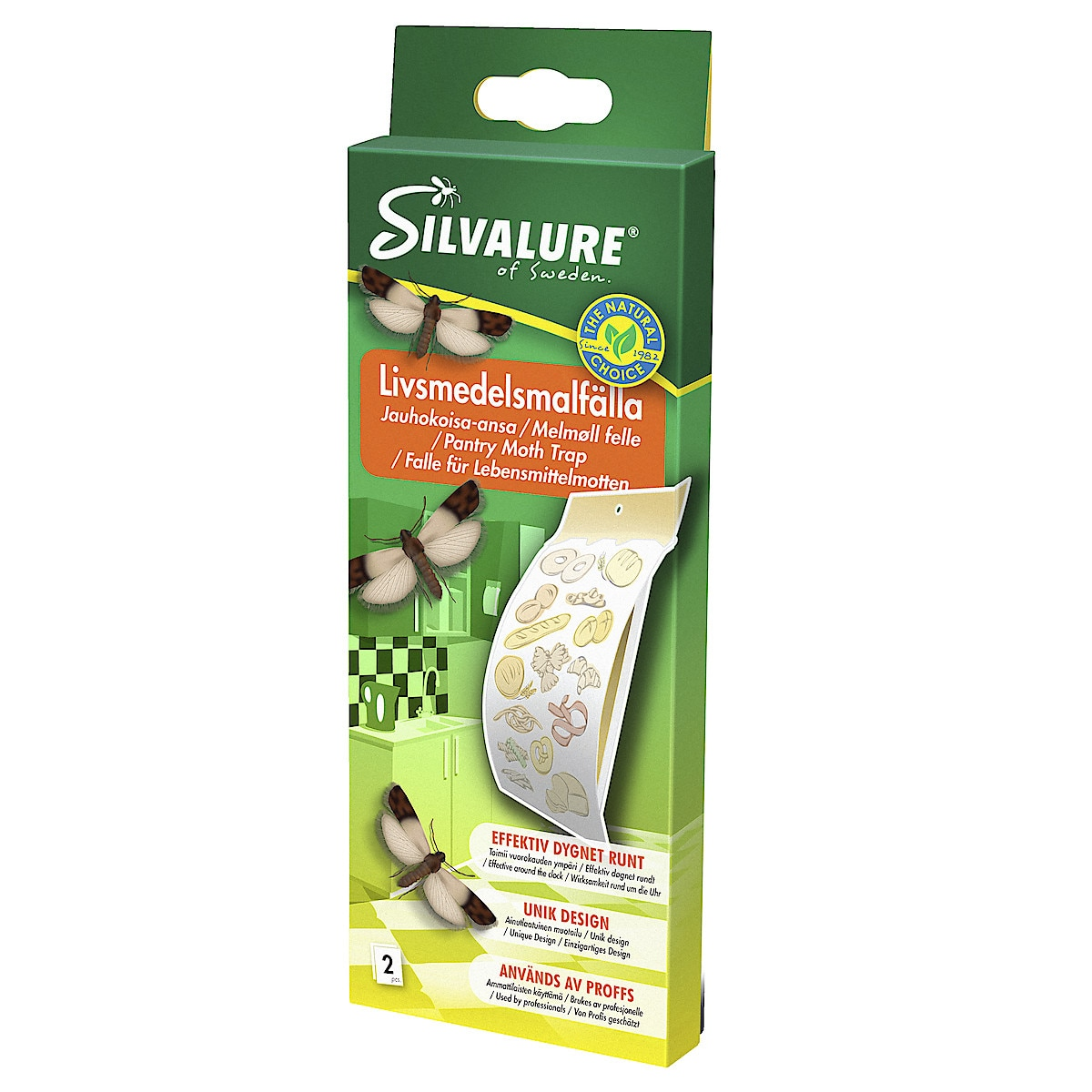 Silvalure felle for møll i næringsmidler