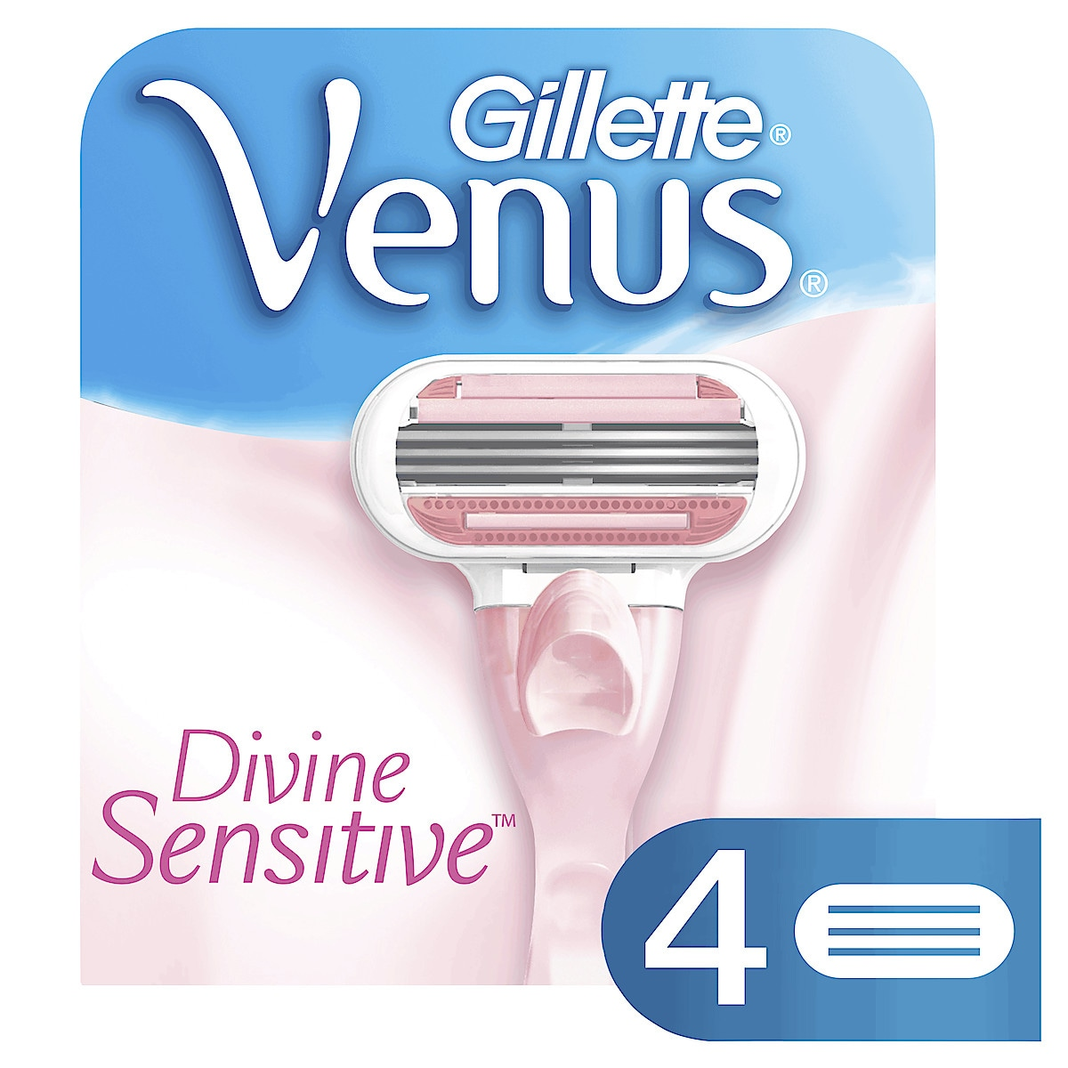 Gillette Venus Divine Sensitive Razor Blade Cartridges 4-pack